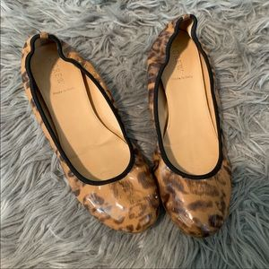 J. Crew Leopard Patent Leather Flats